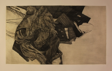 intaglio and chine-colle | 31x18 in